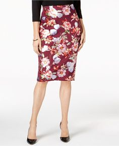 ECI Metallic-Print Pencil Skirt Printed Pencil Skirt, Pencil Skirts,  Metallic Prints, c22bfeb37180