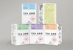 Дизайн линейки чаев. Австралийская студия «Founded by Design» упаковывает линейку травяных чаев по тем же законам «что-где-когда-верстки», но ее цель уже тоньше: не мимикрировать под лекарство, а показать, что природные средства обладают не меньшей эффективностью.