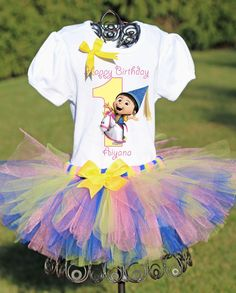 Despicable Me Birthday Despicable Me Tutu by TwistinTwirlinTutus, $49.99