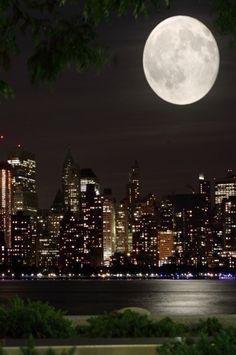 271 Printed City Sky Moon Backdrop