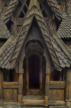 Norwegian Stave Church - Borgund - 1180