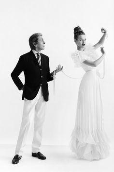 Valentino and Natalia Vodianova. #Vogue