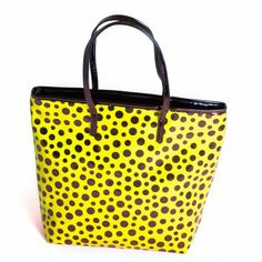 K17 Distribution - Dots Tote Bag Yellow  http://www.shitsvilleclothing.com/yellow-dots-tote-bag.html
