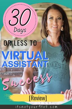 Learn how to become virtual assistant. Gina Horkey's flagship course 30 DAYS TO VIRTUAL ASSISTANT SUCCESS is one of the best training courses for virtual assistant. It will teach you how to become a virtual assistant, how to start a virtual assistant business, what type of virtual assistant services you can offer, plus a community of VAs who can exchange tools and resources. #virtualassistant #workonline #onlinejob