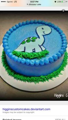Baby Dinosaur Smash Cake by HigginsCustomCakes . Baby Dinosaur Smash Cake by HigginsCustomCakesDinosaur Cake Topper smash cake first birthday . Dinosaur Cake Toppers, Dino Cake, Dinosaur Birthday Cakes, Dinosaur Party, Smash Cake First Birthday, Baby Birthday, Birthday Ideas, Cupcakes, Cupcake Cakes
