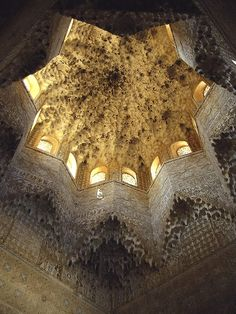 Muqarnas Dome of the Calat Alhambra in Granada. So incredibly beautiful.