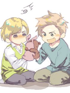Hetalia_Denmark & Norway. Carefull, Matthias : I know you love him, but he's about to hit you -_-'