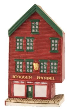 "Bryggen I Bergen, ""Handel"" - Lillesand Design AS Miniature Houses, Norway, Holiday Decor, Handmade, Design, Home Decor, Hand Made, Decoration Home, Room Decor"
