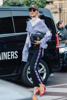 Street style at Fashion Week fall-winter 2017-2018 in Milan