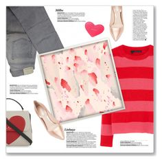 """""""Pink & Red Art Inspired Outfit"""" by kellylynne68 ❤ liked on Polyvore featuring 360 Sweater, Comptoir Des Cotonniers, Nicholas Kirkwood and Kate Spade"""