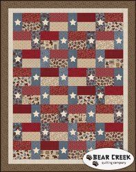 Hold 'em or Fold 'em - Stars and Stripes Free Quilt Pattern by Maywood Studio