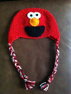 Elmo Crochet Hat