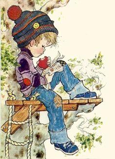 sarah key - Page 4 Sarah Key, Holly Hobbie, Sarah Kay Imagenes, Art And Illustration, Thomas Kinkade, Australian Artists, Vintage Children, Cute Drawings, Cute Art