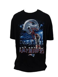 New England Patriots TShirt Size 4XLT NFL Football Black Cotton  #NFL #NewEnglandPatriots