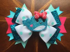 Narwhal hair bows! Pick your favorite from the 4 different styles I have made!  #narwhal #crafty #missmbowtique #missmaeganbowtique #missmaegansbowtique #hairbow #hairbows #handmade #custom