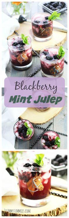 A refreshing Blackberry Mint Julep with Kentucky Bourbon.
