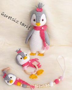 crochet toys and dolls Amigurumi Penguen Tarifi - Amigurumi Newborn Crochet Patterns, Crochet Patterns Amigurumi, Amigurumi Doll, Crochet Projects To Sell, Crochet Penguin, Crochet Disney, Baby Gift Box, Crochet Dragon, Cute Crafts