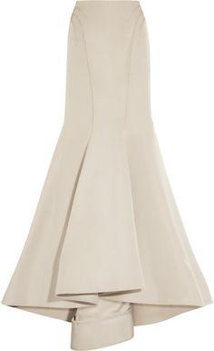 Silk Twill Mermaid Skirt - Lyst