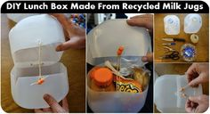 DIY Lunch Box Made From Recycled Milk Jugs ~ Goods Home Design