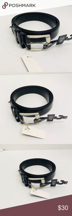 Men's Genuine Leather Black Belt Sizes 46 - 60 Men's Genuine Leather  Fashion Belt  Color: Black Brand: Empire  Silver Buckle  Sizes 46 - 60 Style 3501XL Made in China Empire Accessories Belts