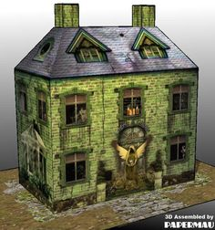 Halloween Special - Haunted House Paper Model - by Angels & Ghosts Putz Houses, Haunted Houses, Diy Halloween Decorations, Halloween Themes, Paper Art, Paper Crafts, Diy Crafts, Ghost House, Paper Houses