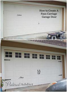 Photos before after garage doors carriage house garage doors how to create a faux carriage garage door diy hangout solutioingenieria Images