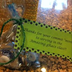 "Commit ""mint"" goodies. Bags filled with various types of mints."