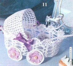 As Receitas de Crochê: Carrinho de bebe em croche