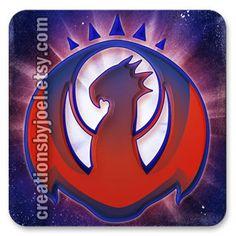 Magic the Gathering Izzet League Magnet. $3.00, via Etsy.