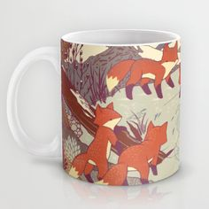 Fisher Fox Mug by Teagan White | Society6