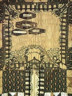 Kentucky grave yard quilt from 1800's  - wonder how this was used and why anyone would want a quilt like this?