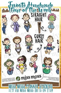 Have you seen my favorite item of the week this week? These planner stickers from Miss Moss are SO dang cute, and they come in multiple sizes, shapes, and colors... Just what I love-diversity and curvy girls!  Snag them here: http://tidd.ly/37278304 #affiliate #Etsy #PlannerAddict #CurvyGirl #Stickers