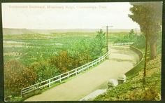 ANTIQUE POSTCARD GOVERMENT BOULEVARD MISSIONARY RIDGE, CHATTANOOGA TENNESSEE