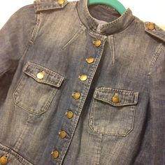 💋TODAY ONLY💋Gap Distressed Denim Jacket Great jacket to pair with a skirt, dress, pant, denim on denim. Great condition. The distressed details give it a little edge. 100% cotton. GAP Jackets & Coats Jean Jackets