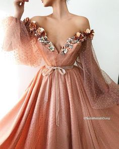 Blushed Rose Gown - Details – Blushed Rose dress color – Organdy dress fabric – Shiny details all over the dress - Prom Dresses Long With Sleeves, Grad Dresses, Ball Dresses, Evening Dresses, Dresses Dresses, Wedding Dresses, Summer Dresses, Dresses Online, Blush Pink Prom Dresses