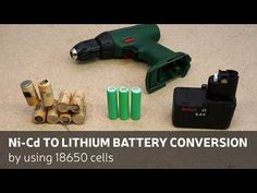 DIY: Ni-Cd To Lithium Battery Conversion By Using 18650 Cells - YouTube