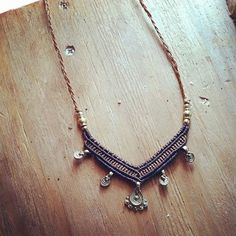 made by order Tribal Macrame necklace With by PrimitiveTribalCraft, $69.00