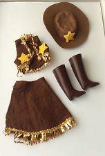 Faerie glen cowgirl costume-vintage doll clothes fit sindy affranchissement rabais