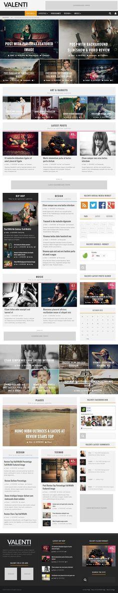 Valenti – WordPress HD Review Magazine News Theme.  #best_wordpress_themes_2013