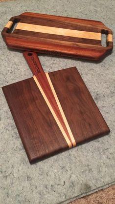Walnut, Mahogany, and Maple cutting boards.