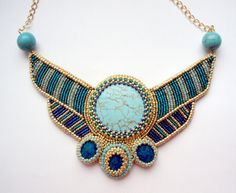 egyptian necklace - craftinghard is on Etsy right now!