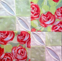Block 7: faux cathedral window variation – Textured 4-patch quilt | Sewn Up