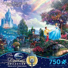 Amazon.com: Thomas Kinkade The Disney Dreams Collection: Cinderella Wishes Upon a Dream Puzzle, 750 pc: Toys & Games Disney Fan, Cinderella Disney, Disney Love, Disney Princesses, Disney Stuff, Disney Magic, Disney Characters, Thomas Kinkade Disney Puzzles, Thomas Kincaid
