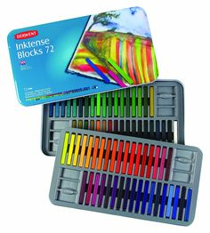 Derwent Inktense Blocks, 4mm Core, Metal Tin, 72 Count (2301980): ACCO Brands: Amazon.ca: Office Products