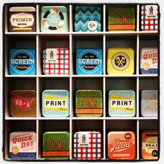 Neo-vintage tin boxes at Fossil in NYC by t1to98, via Flickr