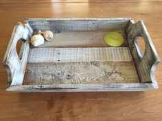 Recycled Wood Pallet Serving Tray Rustic Tray by ASOULFULPURPOSE