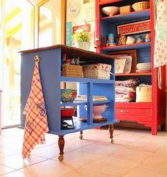 Diy Kitchen Island From Dresser transformed: vintage dresser to kitchen island | dresser, nest and