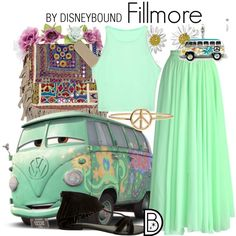 Fillmore by leslieakay on Polyvore featuring Chicwish, Seychelles, Vintage Addiction, Daisy Jewellery, Aurélie Bidermann, Charlotte Russe, disney, disneybound and disneycharacter