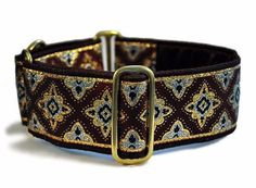 Burgundy Gold and Silver Diamonds Jacquard by TheHoundHaberdashery Custom Dog Collars, Martingale Dog Collar, Burgundy And Gold, Whippet, Silver Diamonds, Large Dogs, Two By Two, Verona, Dog Stuff