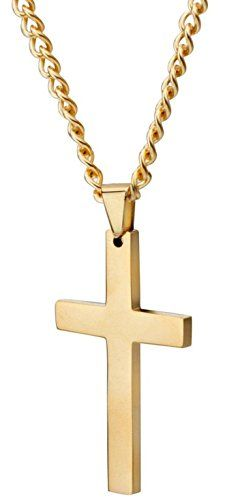Areke Mens Cross Necklace for Men Women Unisex Stainless Steel Pendant Necklaces - http://www.jewelryfashionlife.com/areke-mens-cross-necklace-for-men-women-unisex-stainless-steel-pendant-necklaces/